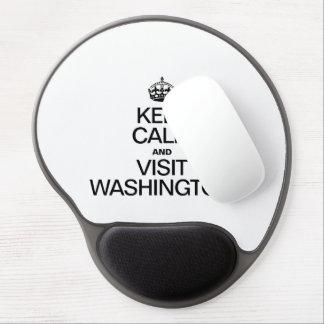 KEEP CALM AND VISIT WASHINGTON GEL MOUSE MATS