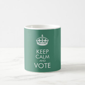 Keep calm and vote - change text and colour basic white mug