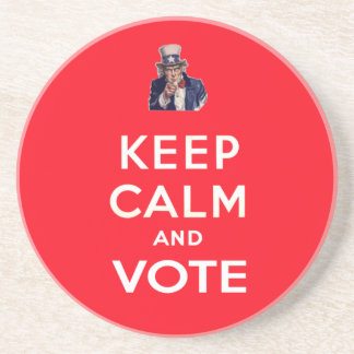 Keep Calm and Vote Drink Coasters