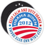 keep Calm And Vote Obama 2 Buttons