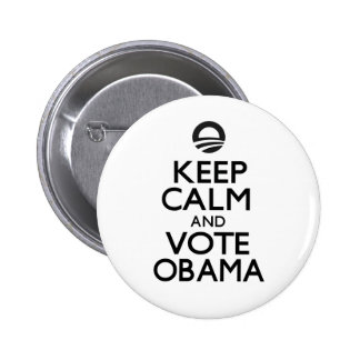 Keep Calm and Vote Obama 6 Cm Round Badge