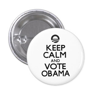 Keep Calm and Vote Obama Buttons