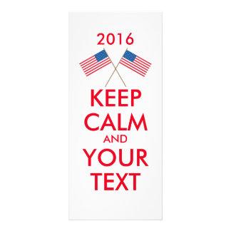 Keep calm and vote on custom rack cards