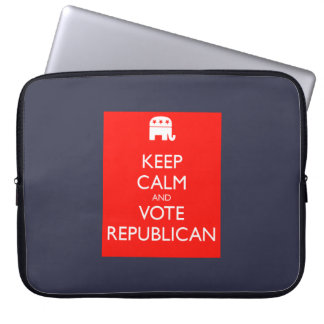 """'Keep Calm and Vote Republican' 15"""" Laptop Sleeve"""