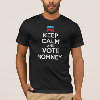 Keep Calm and Vote Romney T-Shirt