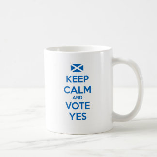Keep Calm and Vote Yes to the Scottish Referendum Coffee Mug