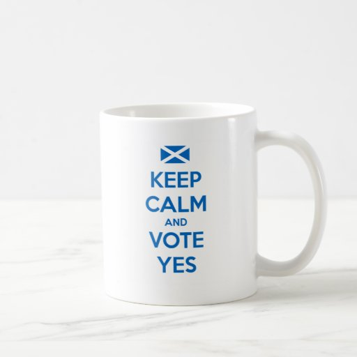 Keep Calm and Vote Yes to the Scottish Referendum Coffee Mugs