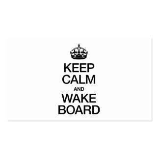 KEEP CALM AND WAKEBOARD PACK OF STANDARD BUSINESS CARDS