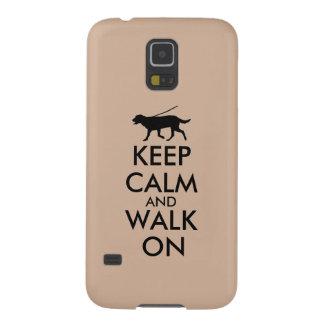 Keep Calm and Walk On Dog Walking Labrador Galaxy S5 Cover
