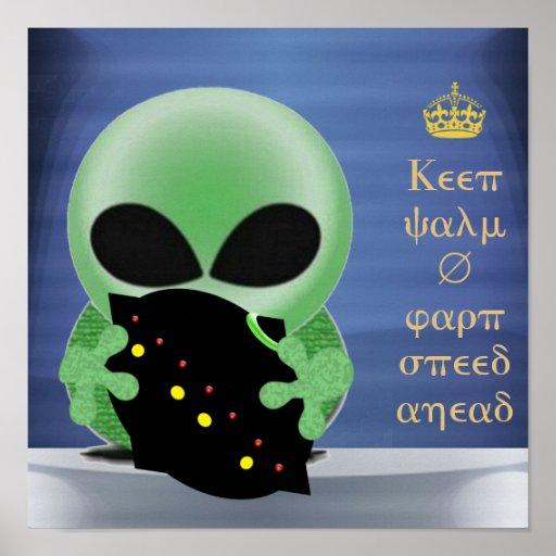 Keep calm and warp speed ahead print