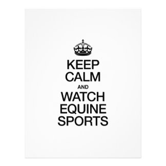 KEEP CALM AND WATCH EQUINE SPORTS FLYER DESIGN