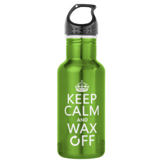 Keep Calm and Wax Off (any background color) 532 Ml Water Bottle