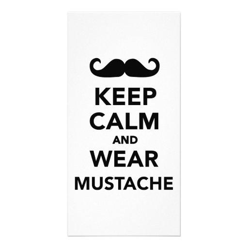 Keep calm and wear Mustache Custom Photo Card