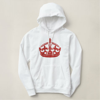 KEEP CALM AND Wear the Crown Embroidery Embroidered Hoodie