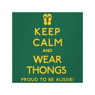 Keep Calm and Wear Thongs! Canvas Print