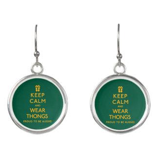 Keep Calm and Wear Thongs! Earrings