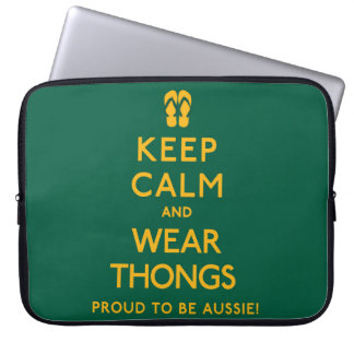 Keep Calm and Wear Thongs! Laptop Computer Sleeves