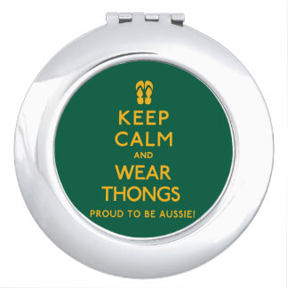 Keep Calm and Wear Thongs! Makeup Mirror