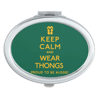 Keep Calm and Wear Thongs! Makeup Mirrors