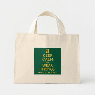 Keep Calm and Wear Thongs! Mini Tote Bag