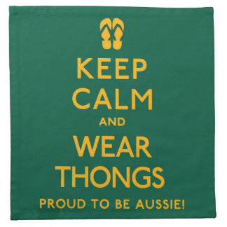Keep Calm and Wear Thongs! Napkin