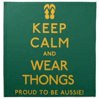 Keep Calm and Wear Thongs! Napkin
