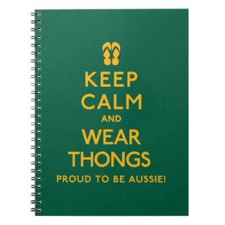 Keep Calm and Wear Thongs! Notebooks
