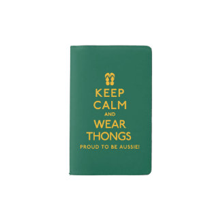 Keep Calm and Wear Thongs! Pocket Moleskine Notebook