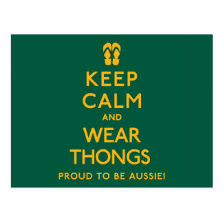 Keep Calm and Wear Thongs! Postcard