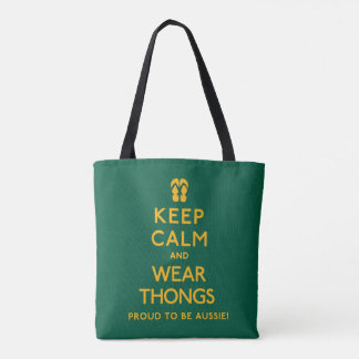 Keep Calm and Wear Thongs! Tote Bag