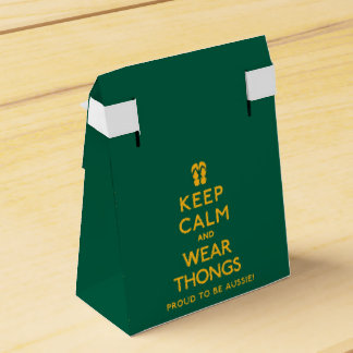 Keep Calm and Wear Thongs! Wedding Favour Boxes