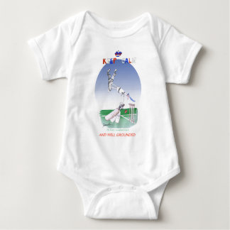 keep calm and well grounded, tony fernandes baby bodysuit