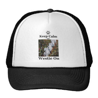Keep Calm and Westie On, west highland terrier Cap