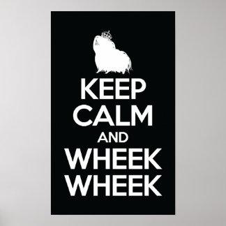Keep Calm and Wheek Wheek Poster