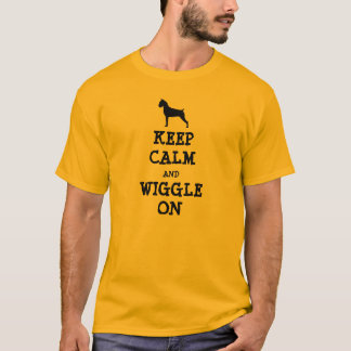 Keep Calm and Wiggle On - Boxer T-Shirt