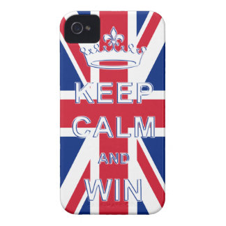 Keep Calm and Win Union Jack iPhone 4 Cases