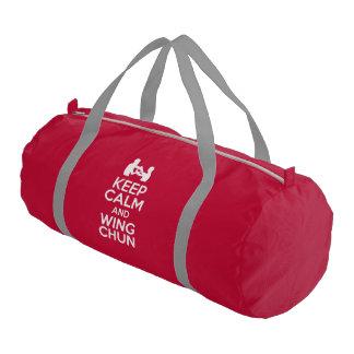 Keep Calm And Wing Chun Gym Duffel Bag