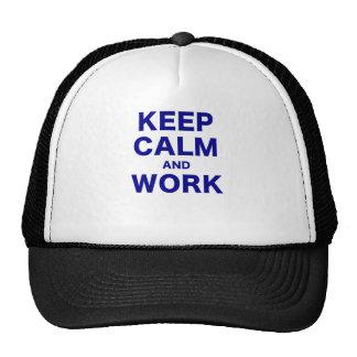 Keep Calm and Work Mesh Hat