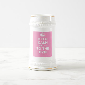 Keep calm and workout beer stein