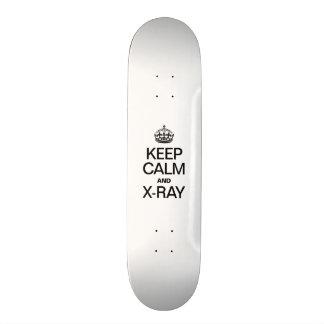 KEEP CALM AND X RAY SKATE BOARD DECK