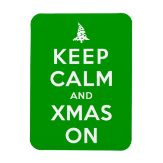 Keep Calm and Xmas On Vinyl Magnets