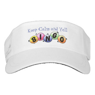 Keep Calm And Yell Bingo Visor