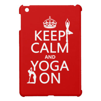 Keep Calm and Yoga On customize colors Case For The iPad Mini