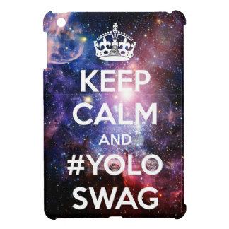 Keep calm and #yoloswag iPad mini cover