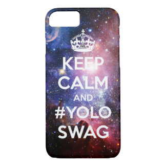 Keep calm and #yoloswag iPhone 7 case