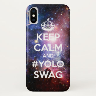 Keep calm and #yoloswag iPhone x case