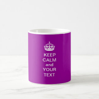 KEEP CALM and Your Text Customizable Mug purple