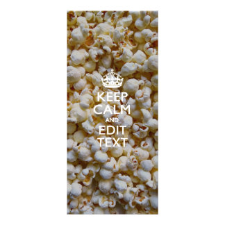 KEEP CALM AND Your Text on Popcorn Customised Rack Card