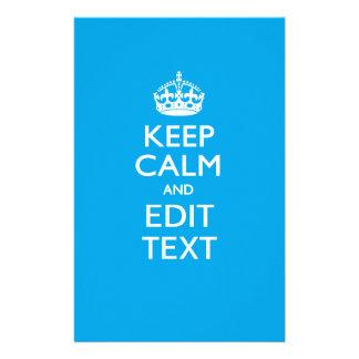 Keep Calm And Your Text on Sky Blue 14 Cm X 21.5 Cm Flyer