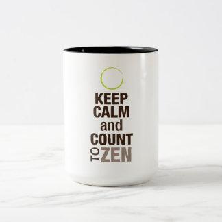 Keep Calm and Zen Two-Tone Coffee Mug
